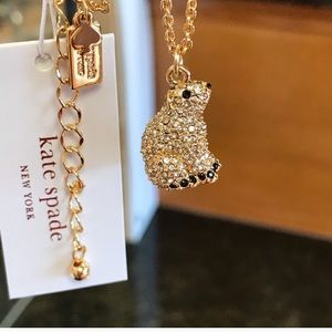 Kate Spade Crystal Polar Bear Necklace